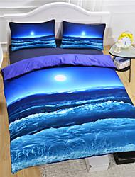 New Beach Ocean Duvet Cover Set 3D Bedding Set Twin Full Queen