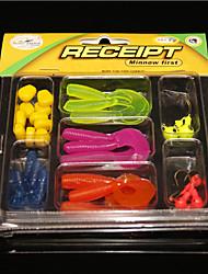 29Pcs/Box Jig,Niblet,Capuchin Maggots Combo Fishing Lures Beginner Set