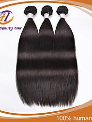 """3 PC / porción 8 """"-30"""" color negro natural del pelo virginal brasileño extensiones de cabello humano sin procesar rectas de la venta"""