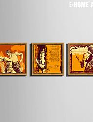 e-FOYER encadrée art de toile, une personne qui danse impression sur toile encadrée ensemble de 3