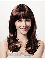 Long High Quality Synthetic Natural Look Brown Curly Hair Wig