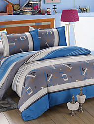 Mingjie® Letter and Strips Queen and Twin Size Sanding Bedding Sets 4pcs for Boys and Girls Bed Linen China Wholesale