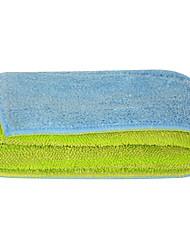 "Sinland Push Stick Cleaner Multi-use Microfiber Towels & Pads Flip Mop Refill Mop Towels 11""x14.9"" Blue/Lime Green 1 Pcs"