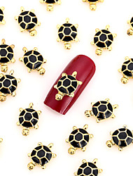 50PCS Gold Nail Art Jewelry Halloween Nail Decorations Alloy Animal Full Aryclic Nail Tips Decorations