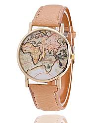 moda xu ™ mulheres do mundo mapa de quartzo relógio