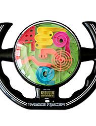 New 3D Music Magic Maze Ball Steering Wheel Intellect Children's Educational Toys Orbit Game Intelligence Christmas Gift