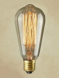 vintage retro artístico e27 lâmpada de filamento incandescente de 40W industrial