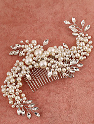 Women's/Flower Girl's Rhinestone/Imitation Pearl Headpiece Handmake - Wedding/Special Occasion Hair Combs 1 Piece