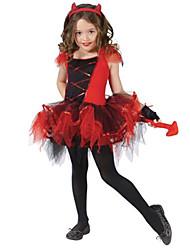 Costumes - Ange et Diable - Enfant - Halloween / Noël / Le Jour des enfants - Robe / Gants / Coiffure