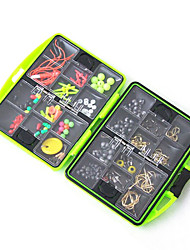 Fishing Accessories Box Surf Casting Fishing Tackle Box Swivel Jig Hook Sinker Floating Beads Fishing Tools Set