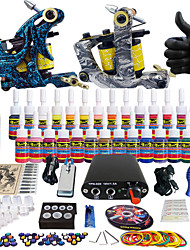 Solong Tattoo Complete Tattoo Kit 2 Pro Machine s 28 Inks Power Supply Needle Grips