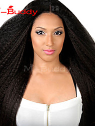 """10 """"-26"""" indio rizado encaje recta llena virginal del pelo&Color del cordón peluca de cabello natural bebé negro delante para las"""