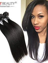 "3pcs/lot 8""-30"" Indian Remy Human Hair Virgin Indian Hair Straight Natural Black Hair Weft"
