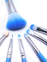 6 Rouge Pinsel / Lidschatten Pinsel / Lippenpinsel / Wimpernbürste / Wimper-Bürsten- / Puderpinsel / Schwamm Applicator Künstliches Haar