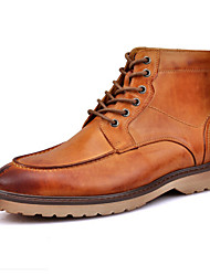 Men's Shoes Casual Genuine Leather Fashion Boots Black / Brown / Burgundy