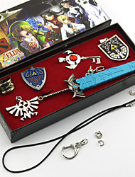 Jewelry Inspired by The Legend of Zelda Cosplay Anime/ Video Games Cosplay Accessories Necklace / Brooch Silver Alloy Male
