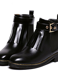 Women's Shoes  Low Heel Round Toe Boots Dress Black