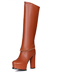 Women's Shoes Chunky Heel Round Toe Ankle/Knee High  Boots More colors available