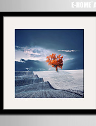 E-HOME® Framed Canvas Art, A Red Tree Framed Canvas Print