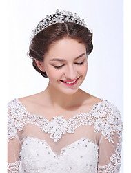 Women's Sterling Silver / Alloy / Imitation Pearl Headpiece - Wedding / Special Occasion / Casual Tiaras 1 Piece
