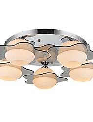 Umei ™ luz de techo moderna ras de montaje 5 luces E26 E27 / dormitorio contemporáneo pasillo de metal / / sala de estar