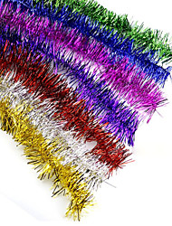 "10PCS/SET 200CM/78.4"" Christmas Decorations Fluffy Feather Boa Strip Fancy Dress Party Wedding Xmas Gift Random Color"