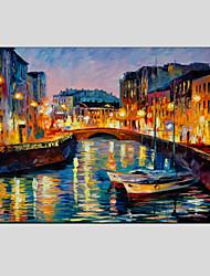 Peint à la main Paysages Abstraits Horizontale,Moderne Style européen Un Panneau Peinture à l'huile Hang-peint For Décoration d'intérieur
