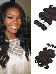 Natural Color Human Hair Extension Virgin Brazilian Human Hair Body Wave Hair Weaving for Black Women