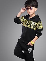 Boy's 100%Cotton Clothing Set of 2pcs , Winter / Spring / Fall Long Sleeve/Zipper