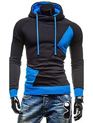 Step Men's Hoodie Sweats & Hoodies , Cotton Blend Long Sleeve Casual Pocket Fall Step