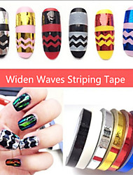 1pcs Widen Waves Nail Striping Tape Metallic Yarn Line