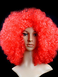 Black Afro Wig Fans Bulkness Cosplay Christmas Halloween Wig Red Color