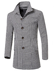 Men's Stand Coats & Jackets , Polyester Long Sleeve Casual Fashion Winter tabc