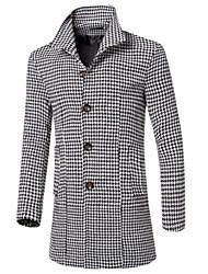 Повседневный - MEN - Пальто и жакеты ( Полиэстер Подставка - Длинный рукав