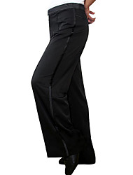 Latin Dance Bottoms Women's Performance Cotton Linen Buttons 1 Piece Pants