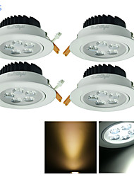 4 pcs YouOKLight 5W 5 High Power LED 500 LM Warm White / Cool White Decorative LED Recessed Lights AC 85-265 V