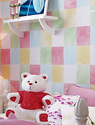 New Rainbow™ Geometric Wallpaper Contemporary Wall Covering , Non-woven Paper children nonwoven wallpaper