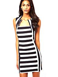 Women's Striped  Dress(cotton)