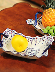 Chinese Blue And White Porcelain Fruit Plate