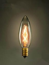 e14 40w punta c35 quema de la luz 220v bombilla edison amarilla pequeña lo lo retro retro fuente de luz