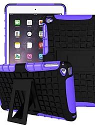 armée plastique Miitary + caoutchouc de silicone de gel 2 en 1 étui rigide antichoc avec support pour iPad Mini 4 (couleurs assorties)