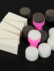 15PCS DAY Manicure Sponge Nail Art Tools for Gradient Color Nail Art