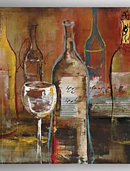 Pintada a mano AbstractoModern Un Panel Lienzos Pintura al óleo pintada a colgar For Decoración hogareña