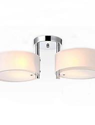 Ecolight ™ montaje empotrado moderna / contemporánea 2 luces de la luz de techo / habitación de los niños / entrada / pasillo / metal