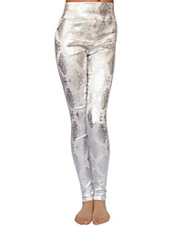 Women's Print Pink / White / Gray Skinny Pants , Bodycon / Casual
