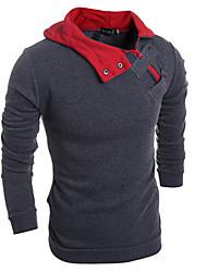 Men's Bateau Sweats & Hoodies , Cotton / Rayon Long Sleeve Vintage / Casual / Party / Work Fashion All Seasons reason