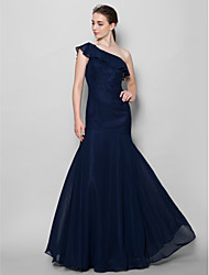 Floor-length Chiffon Bridesmaid Dress Fit & Flare One Shoulder