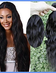 Rosa Hair Good 7A Peruvian Virgin Hair Natural Hair Wave Weaves 2Pieces Lot Natural Color Unprocessed Human Hair