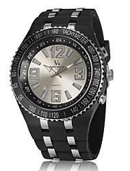 V6 Unisex Casual Design LED Light Rubber Strap Quartz Watch Cool Watch Unique Watch