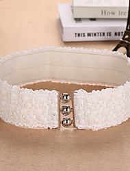 Women Lace / Polyester Elegant Flowers Wide Belt , Party / Casual Fabric